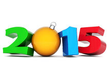 Illustrations 3d de la bonne année 2014 Photo stock