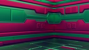 illustrations 3D de vaisseau spatial réaliste de la science fiction La science de Noël illustration libre de droits
