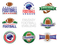 Illustrations d'emblème du football d'imagination Photo stock