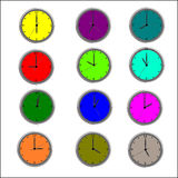 Illustrations d'horloge Photos stock