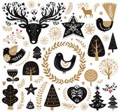 Illustrations dans le style scandinave Images stock