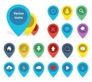 Illustrations de couleur des icônes d'indicateur Photo libre de droits