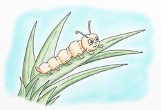 Illustrations de couleur de l'eau de bande dessinée de Caterpillar illustration de vecteur