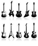 Illustrations de guitares électriques Image stock