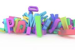 Illustrations de la typographie de cgi, lettre d'ABC, alphabet pour le gra illustration libre de droits
