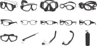 Illustrations de lunettes Image libre de droits
