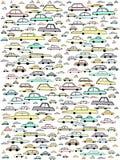 Illustrations de modèle puéril de voiture en couleurs Images stock
