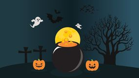 Illustrations de nuit de Halloween illustration libre de droits