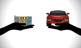 Illustrations de prêt automobile ou de paiement de voiture Images stock