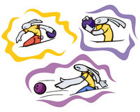 Illustrations de sport de lapin Photos stock