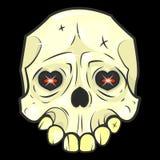 Illustrations de vecteur d'isolement par crâne de Halloween illustration libre de droits