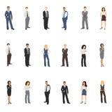 Illustrations de vecteur de collection des gens d'affaires Images stock