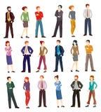 Illustrations de vecteur de collection des gens d'affaires Photographie stock