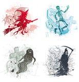 Illustrations de Veille de la toussaint avec des spiritueux mauvais Photographie stock libre de droits
