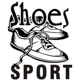 Illustrations-Design-Schuhe des Sports, zum Sie zu treffen Stockfoto