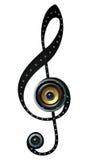 Music note speaker symbol Stock Images