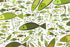 Illustrations of fish. Creative, vector, effect & cover. Illustrations of fish. Good for web page, wallpaper, graphic design, catalog, texture or background Stock Photo