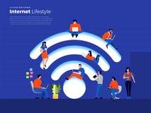 Lifestyle internet user royalty free illustration