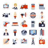 Illustrations of Flat icon set Stock Photos