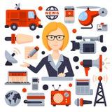 Illustrations of Flat icon set Stock Photo