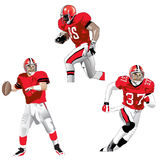 Illustrations of a football player Stock Photo