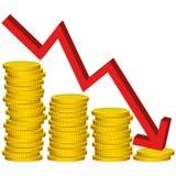 Illustrations-grafischer Vektor verlieren Geld Stockbild