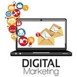 Illustrations-grafisches Vektor-Digital-Marketing Stockfotos