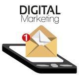 Illustrations-grafisches Vektor-Digital-Marketing Lizenzfreie Stockbilder