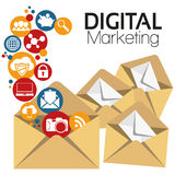 Illustrations-grafisches Vektor-Digital-Marketing Stockfotografie