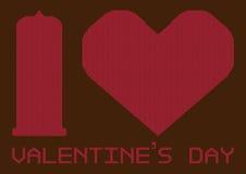 Illustrations-Gruß-Karte für Valentinstag-Festival Lizenzfreies Stockbild