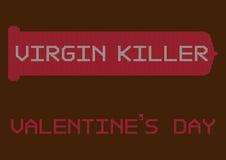 Illustrations-Gruß-Karte für Valentinstag-Festival Lizenzfreie Stockbilder
