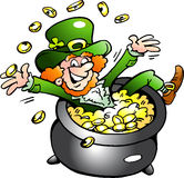 Illustrations of an Happy Leprechaun Royalty Free Stock Photo