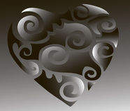Illustrations heart. Depicted Black and white illustrations clipart heart Royalty Free Stock Images