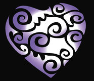 Illustrations heart. Depicted purple illustrations clipart heart Royalty Free Stock Images