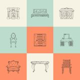 Illustrations of home furnishings Royalty Free Stock Photography