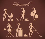 Illustrations of housework Stock Image