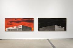 Illustrations intérieures de large Art Museum contemporain photographie stock