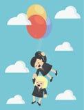Illustrations-Karikaturkonzepte Teamwork Stockbild