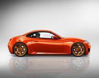 Illustrations-Konzept des Auto-Fahrzeug-Transport-3D Stockfotos