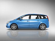 Illustrations-Konzept des Auto-Fahrzeug-Transport-3D Lizenzfreies Stockfoto