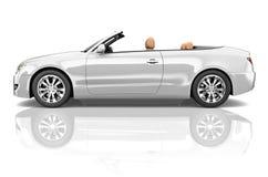 Illustrations-Konzept des Auto-konvertierbares Transport-3D Lizenzfreie Stockbilder