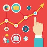 Illustrations-Konzept von Infographic für Darstellung Lizenzfreie Stockfotografie