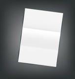 Illustrations-leeres Papierblatt mit Schatten Stockfoto