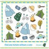 Illustrations-Lernspiel für Kinder - Entdeckung Lizenzfreie Stockbilder