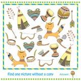 Illustrations-Lernspiel für Kinder - Entdeckung Lizenzfreie Stockfotografie