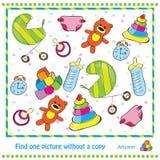 Illustrations-Lernspiel für Kinder - Entdeckung Stockfoto