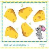 Illustrations-Lernspiel für Kinder - Entdeckung Lizenzfreie Stockfotos