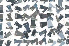 Illustrations of loud speaker. Concept, art, cartoon & effect. Illustrations of loud speaker. Good for web page, wallpaper, graphic design, catalog, texture or vector illustration