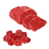 Illustrations of meat products Stock Photo
