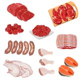 Illustrations of meat products Royalty Free Stock Photo